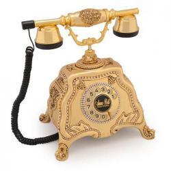 Barok Altın Varaklı Swarovski Taşlı Telefon