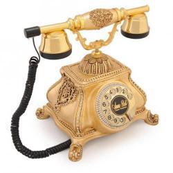 Meltem Altın Varaklı Swarovski Taşlı Telefon