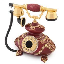 İtalyan Bordo Varaklı Swarovski Taşlı Telefon