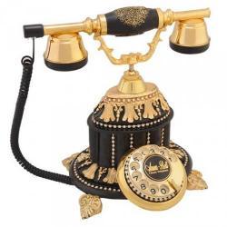 Hisar Saray Siyah Varaklı Swarovski Taşlı Telefon