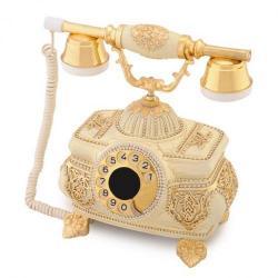 Kristal Şampanya Varaklı Swarovski Taşlı Telefon