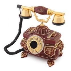 Kristal Bordo Swarovski Taşlı Telefon