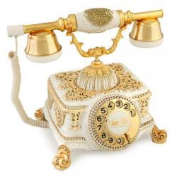Şato Beyaz Varaklı Swarovski Taşlı Telefon