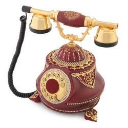 Tombul Bordo Varaklı Swarovski Taşlı Telefon