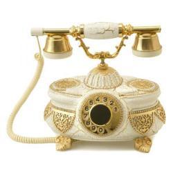 Venüs Beyaz Altın Varaklı Swarovski Taşlı Telefon