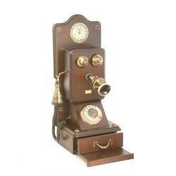 Antik Çekmeceli Duvar Telefonu