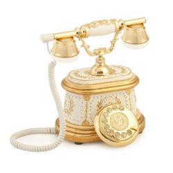 Hisar Ahşap Beyaz Altın Telefon