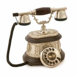 Hisar Ahşap Gümüş Telefon