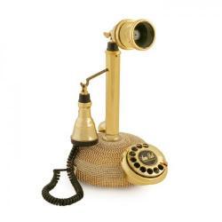 Swarovski Taşlı Leylek Altın Telefon