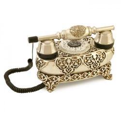 İtalyan Yatık Varaklı Gümüş Telefon