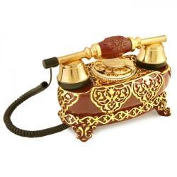 İtalyan Yatık Varaklı Bordo Telefon