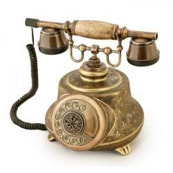 Tombul Ferforje Porselen Telefon