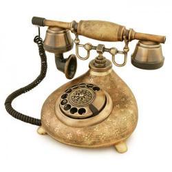 Damla Ferforje Porselen Telefon