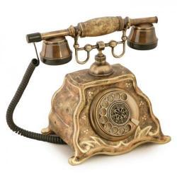 Barok Ferforje Porselen Telefon