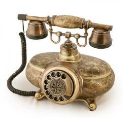 İtalyan Ferforje Porselen Telefon
