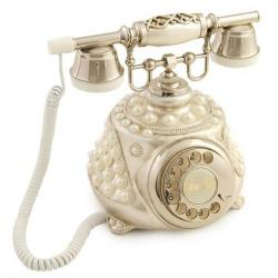 Tombul İncili Gümüş Varaklı Telefon
