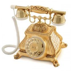 Meltem İncili Altın Varaklı Telefon