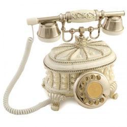 Gondol İncili Beyaz Gümüş Telefon
