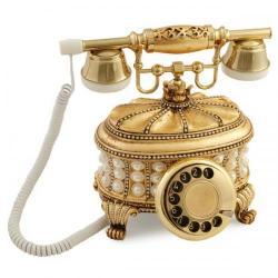 Gondol İncili Altın Varaklı Telefon