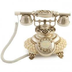 İtalyan Tombul İncili Gümüş Varaklı Telefon