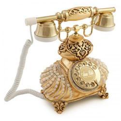 İtalyan Burmalı İncili Gümüş Telefon