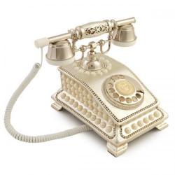 Büro İncili Gümüş Telefon
