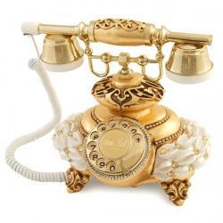 İtalyan Tombul Mercan Altın Varaklı Telefon
