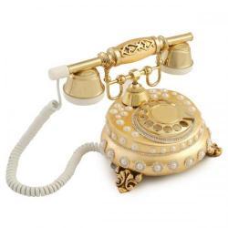 Villa Ayaklı İncili Altın Varaklı Telefon