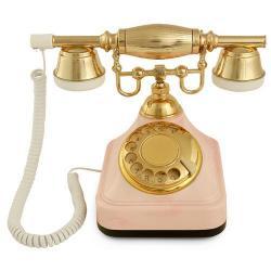 Anna Bell Klasik Çevirmeli Pembe Telefon
