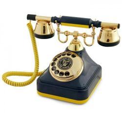 Sarı Lacivert Klasik Çevirmeli Telefon