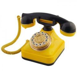 Sarı Lacivert Klasik Tuşlu Telefon