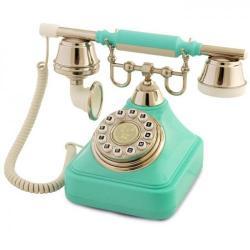 Anna Bell Turkuaz Gümüş Tuşlu Klasik Telefon