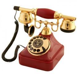 Anna Bell Bordo Çevirmeli Klasik Telefon