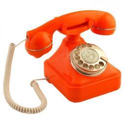 Anna Bell Turuncu Çevirmeli Klasik Telefon