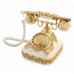 Ericsson Beyaz Altın Varaklı Telefon