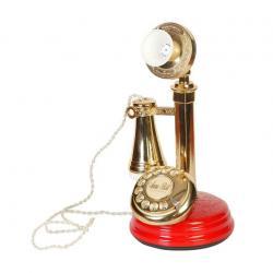 Kırmızı Antika Leylek Telefon