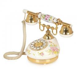 Kubbe Seramik Çiçekli Klasik Telefon