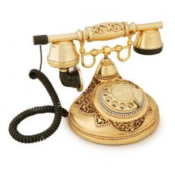 Antik Damla Altın Varaklı Telefon