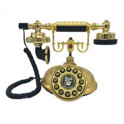 Kubbe Otel Tipi Altın Varaklı Klasik Telefon