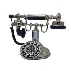 Otel Tipi Gümüş Klasik Telefon