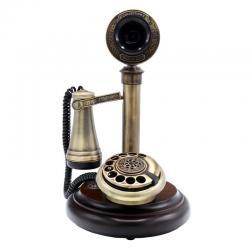Eskitme Klasik Ahşap Telefon