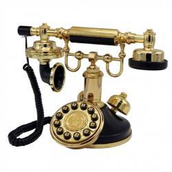 Klasik Siyah Tuşlu Retro Telefon