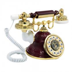 Klasik Bordo Çan Telefon